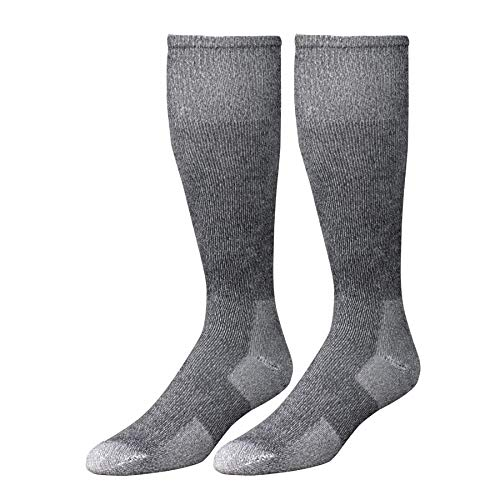 Wells Lamont Western Boot Socks, Gray, Shoe Sizes 10 to 12 1/2, 2 Pair Pack (9334LN) ()