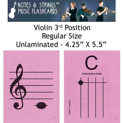 Notes & Strings Violin 3rd Position 4.25