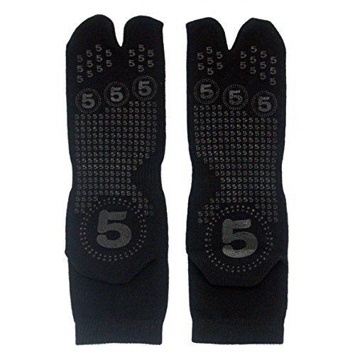 Japanese Black Tabi Ninja Slip Proof Socks - For Adult & Kids' Shoes & Sandals (Black, Kids-S US (7~10)/ EU (22.5~25.5)) by Samurai market