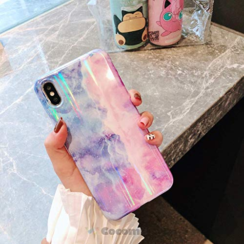 Cocomii Gradient Marble Armor iPhone XR Case NEW [Colorful Granite] Premium Ultra HD Vivid Pattern Never Fade Anti-Scratch Shockproof Bumper [Slim] Full Body Cover for Apple iPhone XR (GM.Blue/Purple) (Colorful Iphone 6plus Cases)