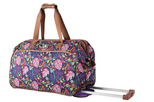 Lily Bloom Luggage Designer Pattern Suitcase Wheeled Duffel Carry On Bag (14in, Raking It In) by Lily Bloom