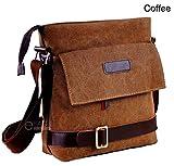 Men's Canvas Crossbody Briefcase Hiking Military Messenger Shoulder Sling Bag Satchel New