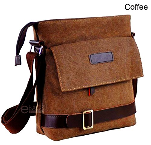 Men's Canvas Crossbody Briefcase Hiking Military Messenger Shoulder Sling Bag Satchel (Briggs Riley Rolling Computer Case)