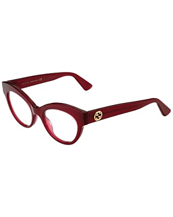 8e3f11080be6 Image Unavailable. Image not available for. Color: Gucci Womens Cat Eye  Optical Frames GG0030O-30000977-010