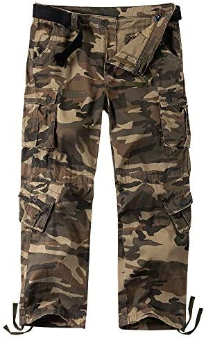 Mens Hiking Army Trousers Combat Military Cargo Work Casual Winter Camo Pants 10