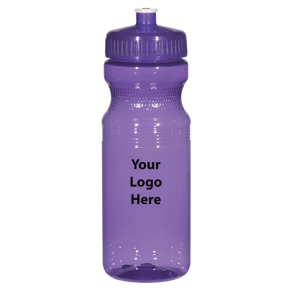 """Poly-Clear 24 Oz. Fitness Bottle - 100 Quantity - $1.95 Each - PROMOTIONAL PRODUCT / BULK / BRANDED with YOUR LOGO / CUSTOMIZED Size: 3"""" W x 8"""" H."""