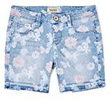 Squeeze Girls' Butterfly & Floral Midi Shorts (Light Elise, 6X)