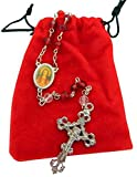 St. Philomena Rosary with Free Red Rosary Pouch by AutoM offers