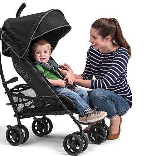 514GY4WqCvL - Summer 3Dlite+ Convenience Stroller, Matte Black – Lightweight Umbrella Stroller With Oversized Canopy, Extra-Large Storage And Compact Fold