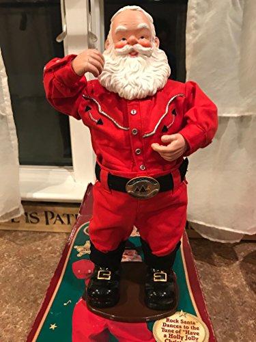 Singing Hip-Swingin Holly Jolly Rock Santa Cowboy