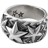 [コディー サンダーソン] CODY SANDERSON Wave gear 3 star ring ウェーブギア スリースター リング 指輪 シルバー 【並行輸入品】