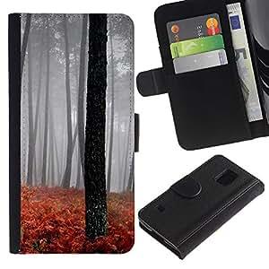 JackGot ( Natura Bella Forrest verde 189 ) Samsung Galaxy S5 V SM-G900 la tarjeta de Crédito Slots PU Funda de cuero Monedero caso cubierta de piel