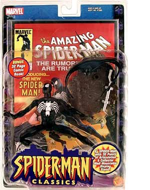 "Spider-man Classics BLACK COSTUME SPIDER-MAN 6"" Action Figur"