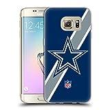 Official NFL Stripes Dallas Cowboys Logo Soft Gel Case for Samsung Galaxy S7