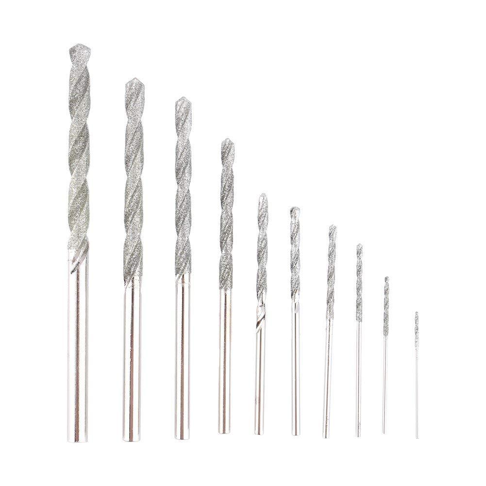 5 St/ück uxcell Diamant-Spiralbohrer 0,9 mm Fliesen Muscheln Stein HSS f/ür Glas