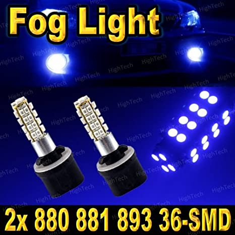 2X 36SMD High Power Amber Yellow 880 881 LED Bulbs For Car Fog Lights or Driving