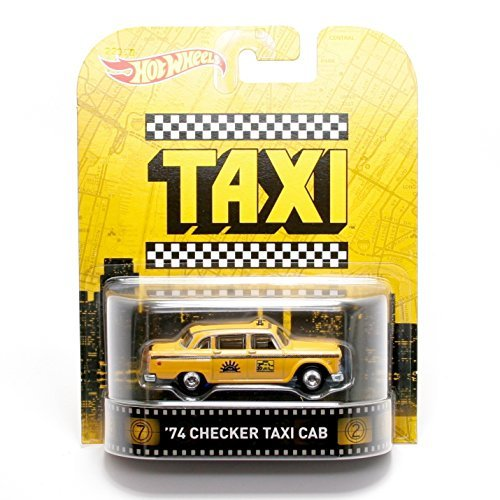 Hot Wheels 1974 Checker Taxi Cab Taxi 2015 Retro Series 1/64 Die Cast - Memory Lane Car