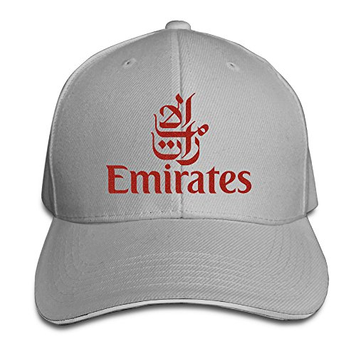 Cool Emirates Bright Red Airway Logo  Adjustable Baseball Hat  8 Colors