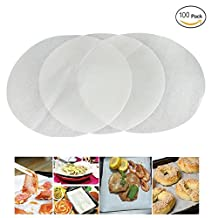 Mity Rain (set of 100) Non-Stick Round Parchment Paper 8 Inch diameter, Baking Paper Liners Round for Cake Pans Circle