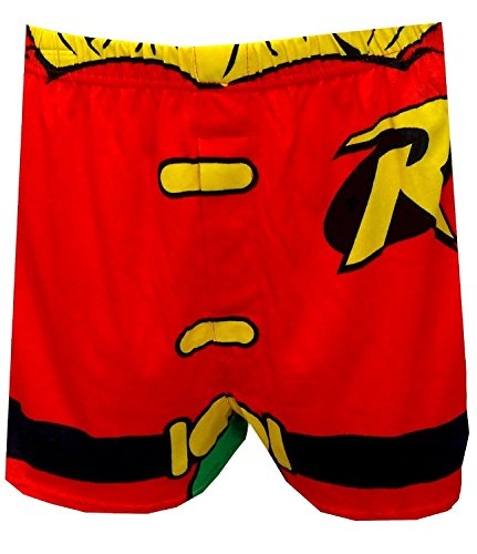 Briefly Stated Robin Boxer Shorts with Cape for Men Small