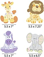 Set of 20 Zoo Crew Elephant Zebra and Lion Decorations DIY Baby Shower or Birthday Party Essentials Giraffe