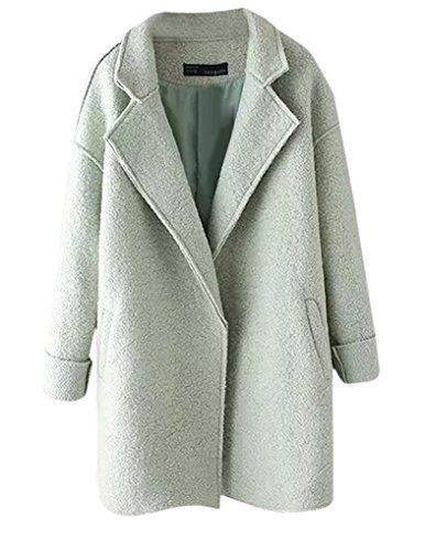 Jollychic - Abrigo - para mujer verde claro