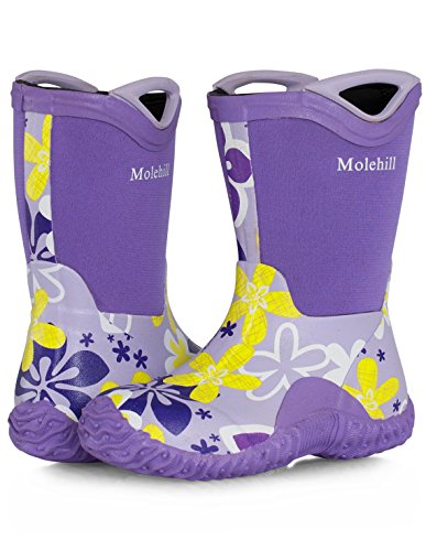 [Molehill Girls Rain Boot, Morado, 12 M US Little Kid] (Next Kids Boots)