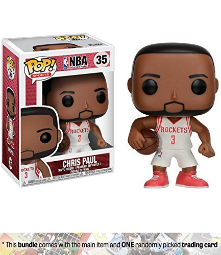 Chris Paul Game - Chris Paul: Funko POP! Sports x NBA Vinyl Figure + 1 Official NBA Trading Card Bundle (21809)