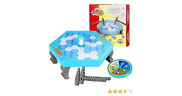 MIXiao Pequeño Pingüino Trampa Bloque Toy Ice Breaker Game Party Toy para niños niñas Juegos interactivos de la Familia Juguetes: Amazon.es: Hogar