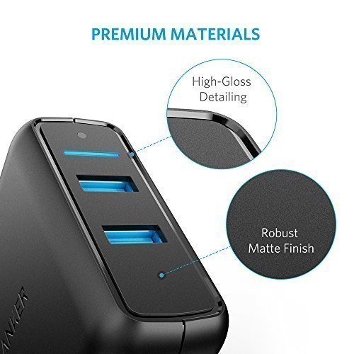 Anker Quick Charge 3.0 39W Dual USB Wall Charger, PowerPort Speed 2 for Galaxy S7 / S6 / Edge / Plus, Note 5 / 4 and PowerIQ for iPhone 7 / 6s / Plus, iPad Pro / Air 2 / mini, LG, Nexus, HTC and More