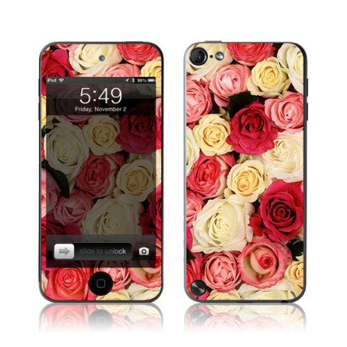 TaylorHe Vinyl Skins for iPod Touch 5 Ultra-slim Protection Perfect Fit Made in Britain Colourful Decal With Patterns Colourful Roses