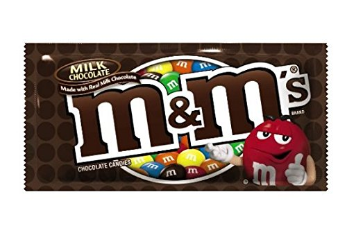 M&M'S Milk Chocolate Candy Singles Size 1.69-Ounce Pouch 48-Count