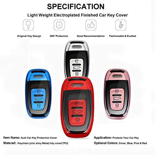A7 Q5 Funda de protecci/ón para Fob Llaves Audi A4 Azul OATSBASF Funda Llave Audi Q7 A6 A5 Q8 Carcasa Llave Audi RS SQ 3 Keyless Botones