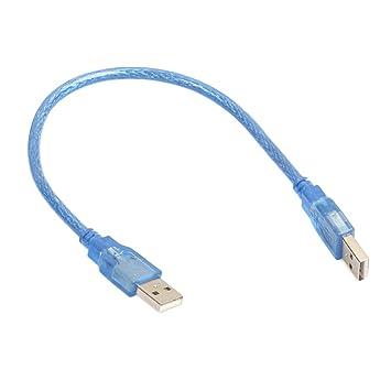 Prom-near Cable Alargador USB 2.0, 30 CM Cable de Extensión Macho ...