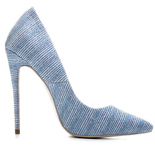 Taille BLUE Tribunal EUR35UK3 Haute Stylet Chaussures Pompes Bleu NVXIE Intelligent Or Fête Femmes Travail Pointu Talon qBqO6C