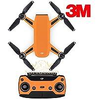 SopiGuard 3M Matte Orange Precision Edge-to-Edge Coverage Vinyl Sticker Skin Controller 3 x Battery Wraps for DJI Spark