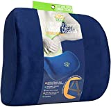 Smart Lumbar Support Back Cushion Pillow - for Lower Back Pain Relief, Everlasting Comfort, Ergonomic 3-Strap System (Blue)