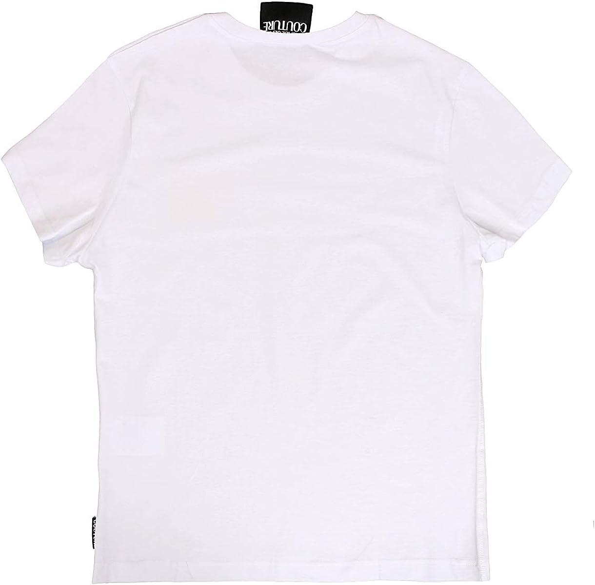 for Mens Versace White 100/% Cotton Classic Short Sleeve Crewneck T-Shirt
