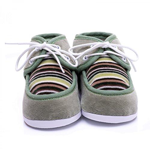 Zapatos de gateo de invierno para bebés verde mayo