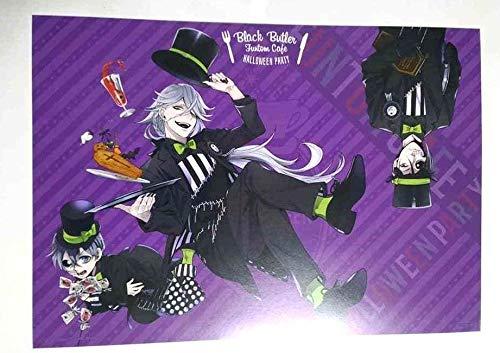 Black Butler Luncheon Mat Sheet Undertaker Ciel Funtom Cafe Halloween Toboso -