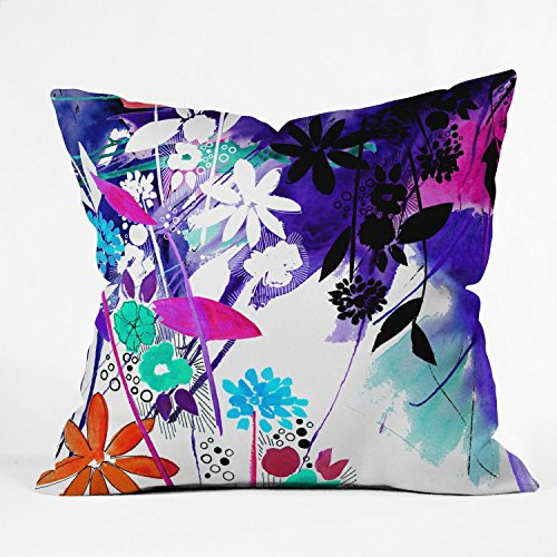 Deny Designs Holly Sharpe Captivate Floral Throw Pillow, 20 x 20 (Designer Clearance Sofa)
