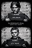 Supernatural - Black and White - Dean and Sam Winchester 24x36 Poster
