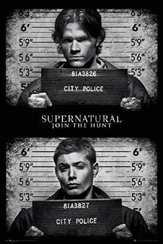 Supernatural - Black and White - Dean And Sam Winchester 24x36 Poster (Sam Dean)