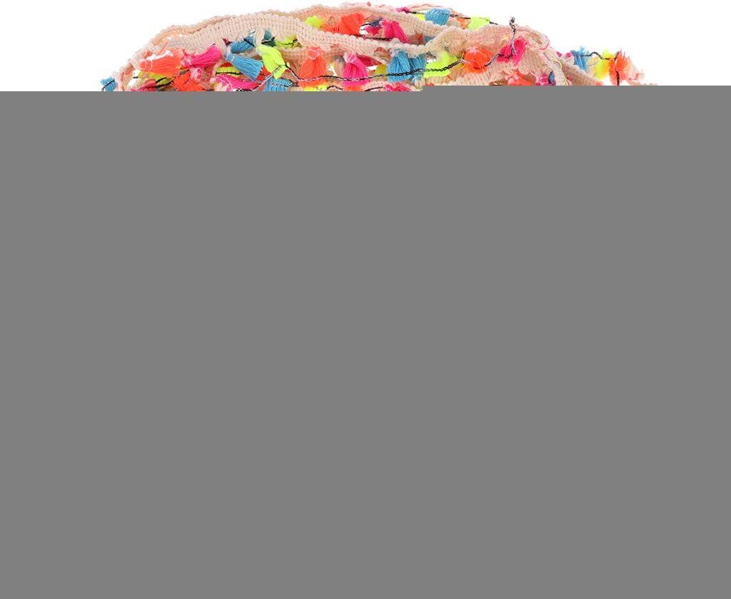 sharprepublic 20 Yard Pom Pom Trim Ball Fringe Ribbon DIY Kids Dolls Sewing Fabric Accessories as described red