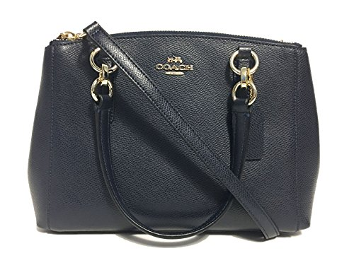 Coach Mini Christie Carryall in Crossgrain Leather in Midnight Blue by Coach