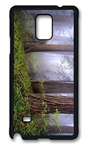 Adorable foggy redwoods Hard Case Protective Shell Cell Phone For Case Samsung Note 4 Cover
