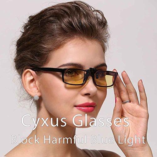 Cyxus Blue Light Filter Uv Blocking Glasses Clip On Anti