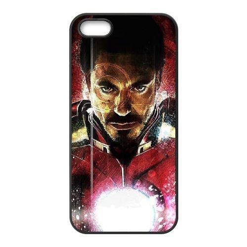 V5B54 Iron Man L7R3VW coque iPhone 4 4s cellule de cas de téléphone couvercle coque noire WT4GXW1GB
