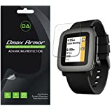 [6-Pack] Dmax Armor Pebble Time (mate) Protector de visualización antirreflejos y antihuellas Saver – LIFETIME Reemplazos Warranty – Empaquetado al por menor
