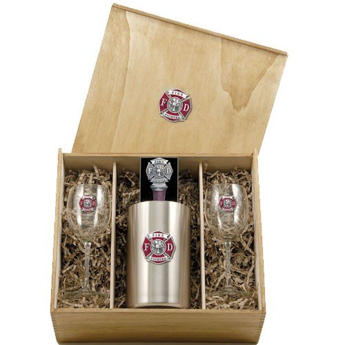 Firefighter Color Wine Set w/ Box